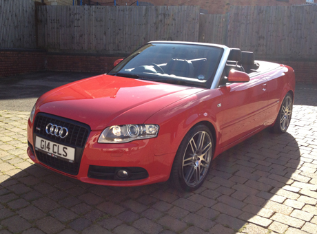 red 2008 audi a4 cabriolet 2 0l fsi turbo s 19 alloys. Black Bedroom Furniture Sets. Home Design Ideas